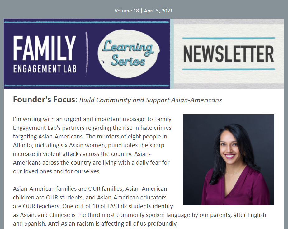 Family Engagement Lab Learning Series